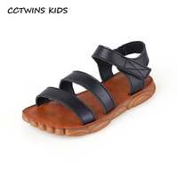 CCTWINS Kids Shoes 2019 Summer Fashion Boys Real Leather Sandals Girls Sports Beach Flats Toddler Children Barefoot Shoes BS392
