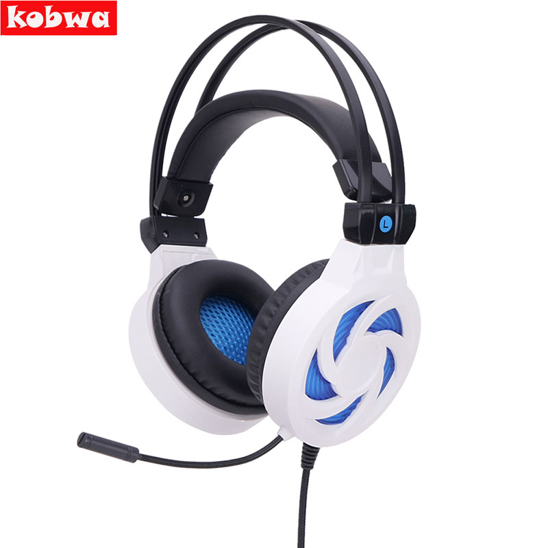 SY885MV Gaming Headset Professional Gamer Headphone Noise Cancelling with Microphone Blue LED Vibration for PC Computer Laptop