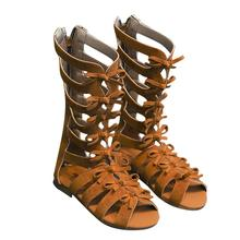 Kids Girl Summer Fashion Roman Boots High-top Beach Sandals