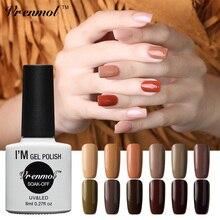 Vrenmol коричневый цвет серия Светодиодный УФ гель лак для ногтей замачиваемый гель длительный дизайн ногтей салон 8 мл гель лак маникюрный набор