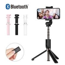 Fghgf T3 mini Bluetooth selfie stick trípode plegable espejo remoto selfie Stick para iOS iPhone x 8 7 más xiaomi samsung Android