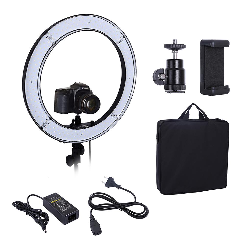 Camera Photo Studio Lighting Phone Video 55W 240PCS LED Ring Light 5500K Photography Dimmable Flash Ring Lamp latour 2400 led photography lighting dms 5600k studio video camera stage light lamp