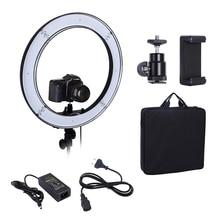 Câmera Foto Iluminação de Estúdio de Vídeo De Telefone 55 W 240 PCS LED Ring Light 5500 K Fotografia Regulável Lâmpada Anel De Flash