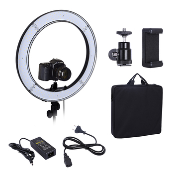Camera Photo Studio Lighting Phone Video 55W 240PCS LED Ring Light 5500K Photography Dimmable Flash Ring Lamp Photographic Lighting