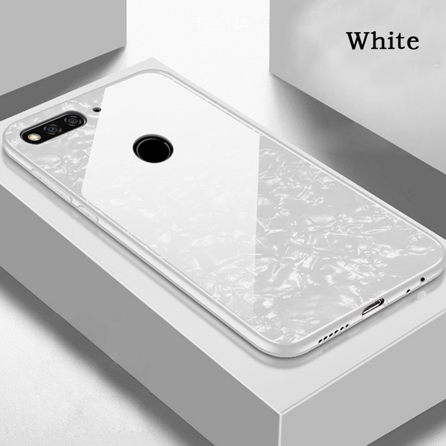 Case For Huawei Honor 7C Case Hard Shell Cover Tempered Glass For Honor Play 7X 7A 7C Case Cover For Honor 7C Funda 5.7' 5.99'