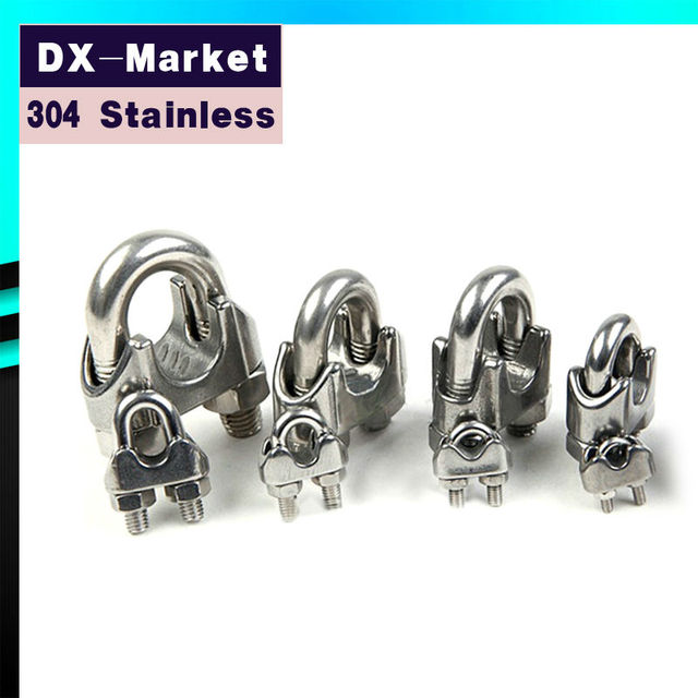 16mm , 2pcs/lot , Stainless Steel Ringging Hardware Wire Rope Clips ...