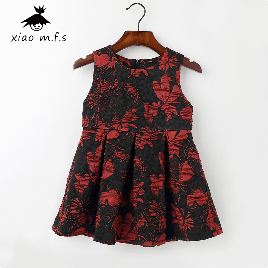 Baby Girl clothes toddler Flower Princess Dress kids dresses for girls Party Wear clothing Flower Printed for party and wedding toddler girls dresses summer 2016 baby kids clothes princess children dress for girl clothes sleeveless flower party dress 2 10y