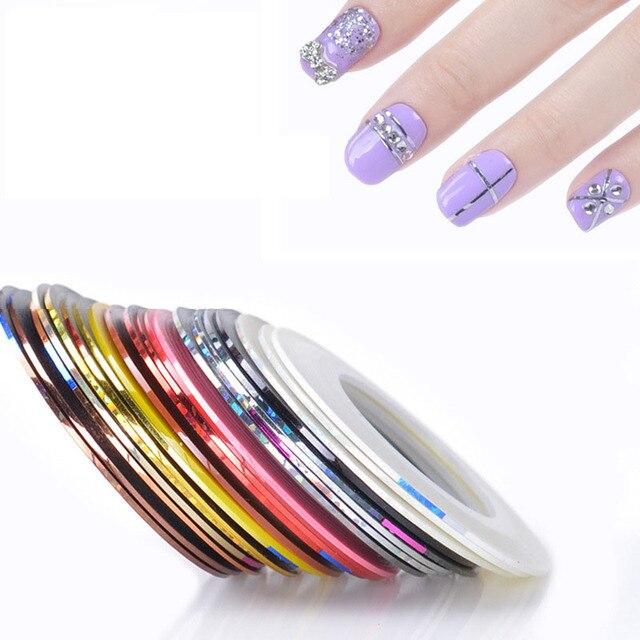 1 Unids Kit de Herramientas de Uñas nail etiqueta engomada del clavo ...