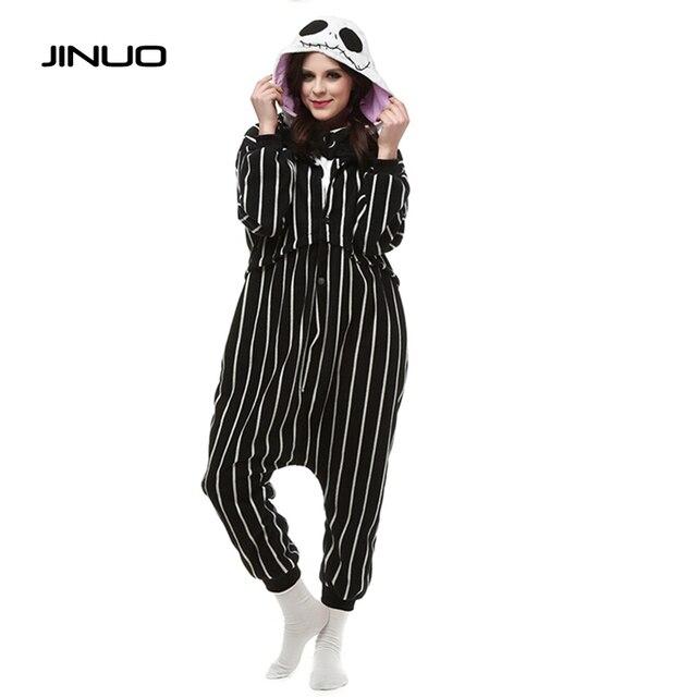 cosplay anime the nightmare before christmas jack skellington skeleton costume onesie party christmas pajamas plus size