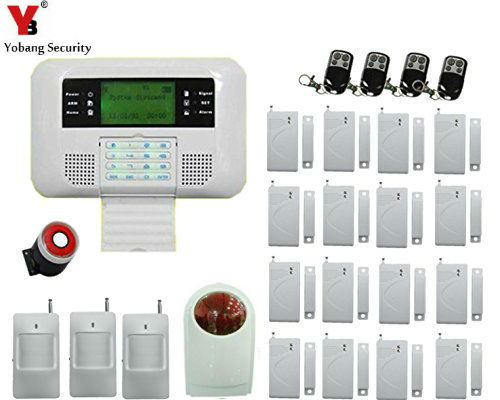 Yobang Security GSM/PSTN Alarm Russian/English Wireless Home Security Alarm Systems With LCD Keyboard built-in battery free shipping english russian wireless gsm pstn phone line 110db siren home security alarm systems lcd touch keyboard smoke fire