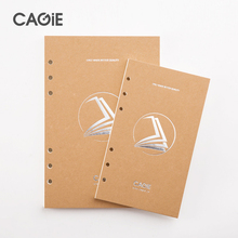 CAGIE a5 a6 a7 Blank Notebook Filler Paper School Office Planner Accessories Spiral Paper Traveler's Sketchbook Diary