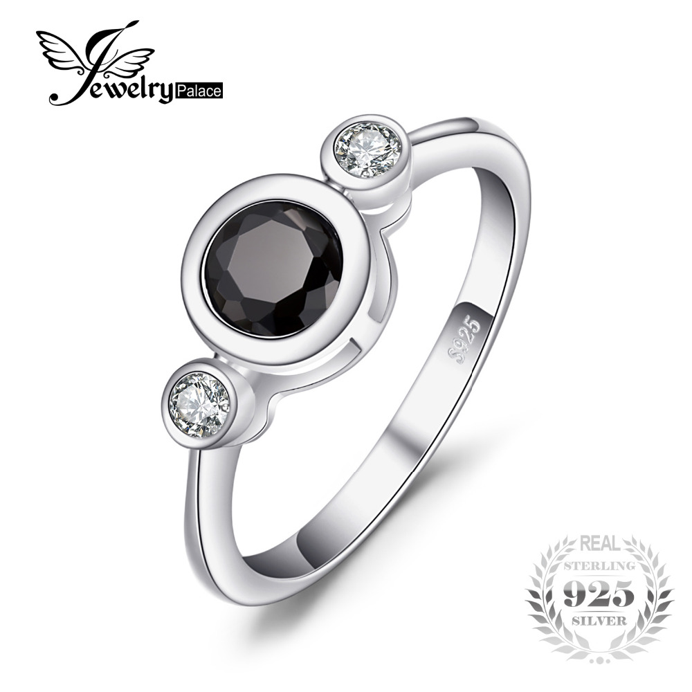 JewelryPalace Succinct 1.3ct Green Created Black Spinel Bezel Setting 3 Stone Ring 925 Sterling Silver Simple Fashion Women RingJewelryPalace Succinct 1.3ct Green Created Black Spinel Bezel Setting 3 Stone Ring 925 Sterling Silver Simple Fashion Women Ring