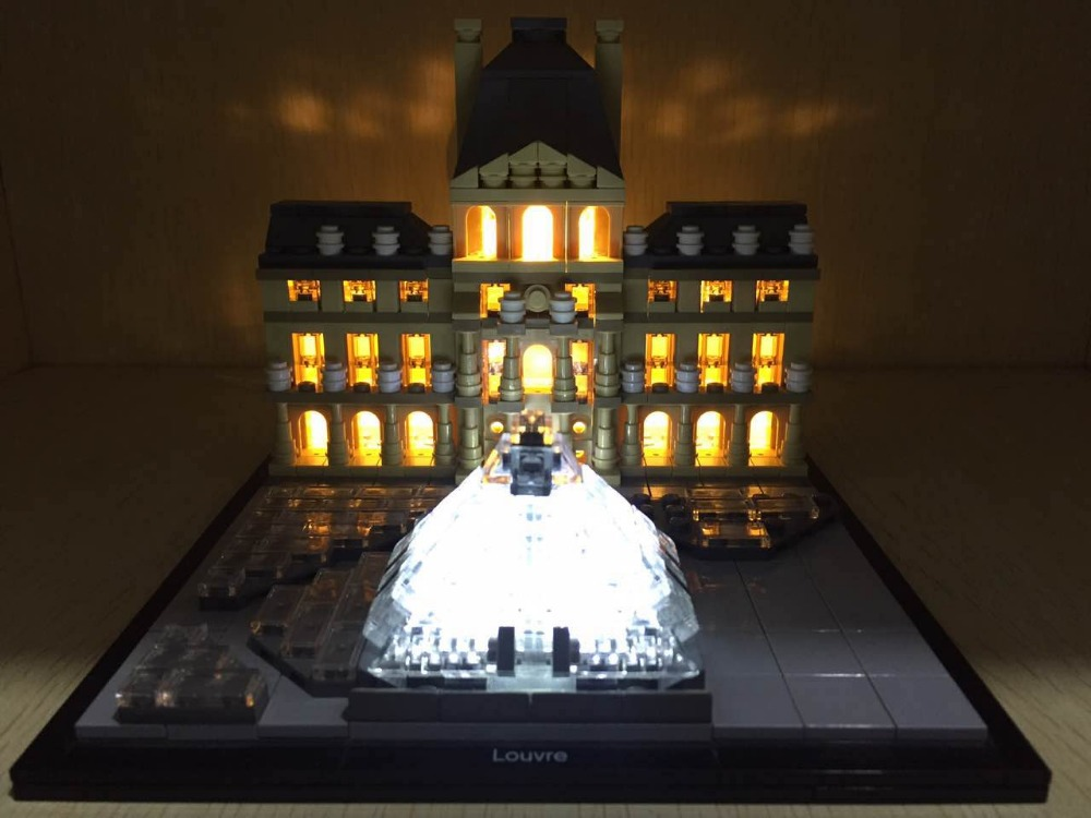 LED Light Up kit (only light kit included) for Lego 21024 Architecture Series Louvre Model Building Light Set Toys lego architecture series city building blocks toys paris louvre building toys a tourist souvenir for lego travel toys brinquedos