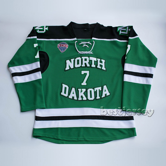 Kowell North Dakota Fighting Sioux  7 T J Oshie Stitched Hockey Jersey 30a9e57b0eb