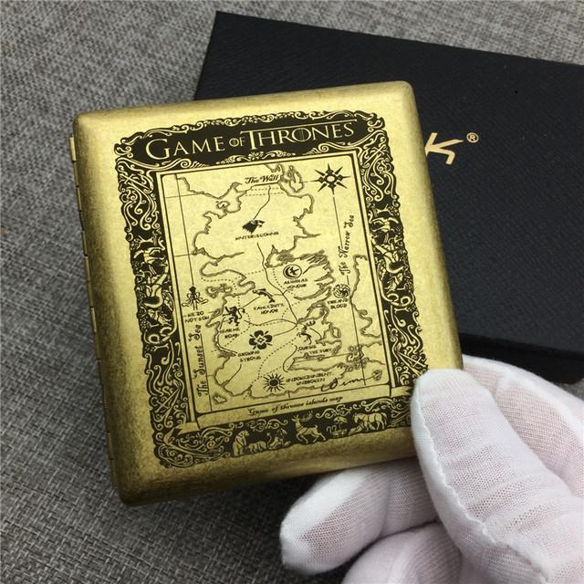 Game Of Thrones Seven Kingdom Map Cigarette Case