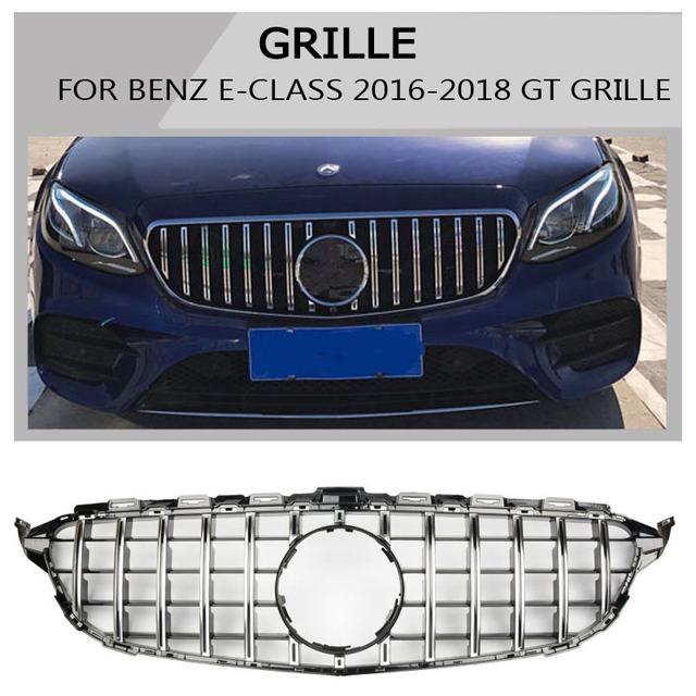 w213 e-class  Grille black Emblem Front Bumper mesh Radiator  Grille For  benz e -class 2016~2018 Car  STYLING