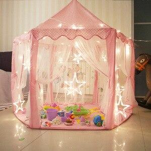 Image 5 - Capanna da giardino per bambini principessa castello rosa tende in tessuto capanna per ragazze ragazzi tenda da gioco pieghevole per esterni tenda da biliardo per bambini palla da biliardo