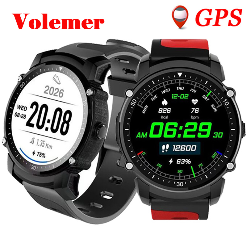 Здесь можно купить   Volemer GPS Smart Watch IP68 Waterproof Bluetooth Watch Multi-mode Sports Monitoring Wristwatch Clock Heart Rate Smartwatch  Бытовая электроника