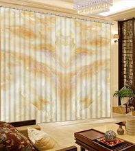 Blackout Curtains marble Room Bedroom Window Living Room Custom any size 3D Curtain 2019 Curtains Home Decor(China)