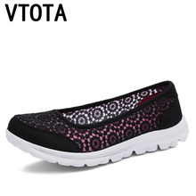 VTOTA  Women Flats Shoes 2017 Comfortable Flat Air Mesh Spring Summer Shoes Female Zapatos de mujer Slip On Shoes For Women F75 2018 summer women sport shoes casual air mesh breathable shoes flat platform shoes for women slip on sneakers zapatos mujer