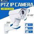 CCTV Zoom Óptico de 10X Da Câmera Auto Iris HD 1080 P Bala 2MP IP Câmera PTZ Ao Ar Livre À Prova de Intempéries Anbarella A5S Visão Nocturna do IR 80 M