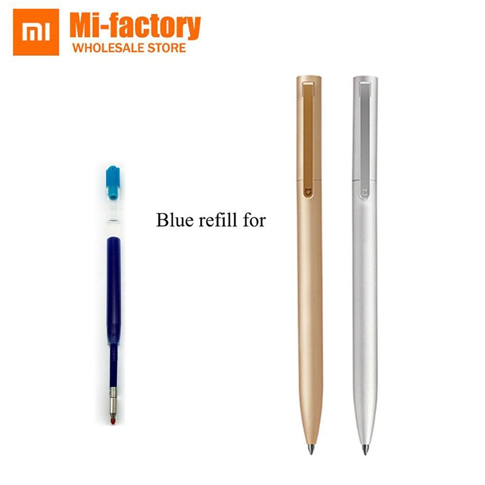 0,5mm Schwarz Blau Farbe Tinten Refill Für Xiaomi Mijia Stift Metall Version Ersatz Nur Für Gold Farbe Silber Farbe Mijia Stift Produkte HeißEr Verkauf