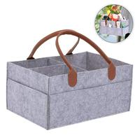 Pokich High Quality Felt Fabric Foldable Storage Bag Diaper Caddy Organizing Children Toys Tote Organizer Container