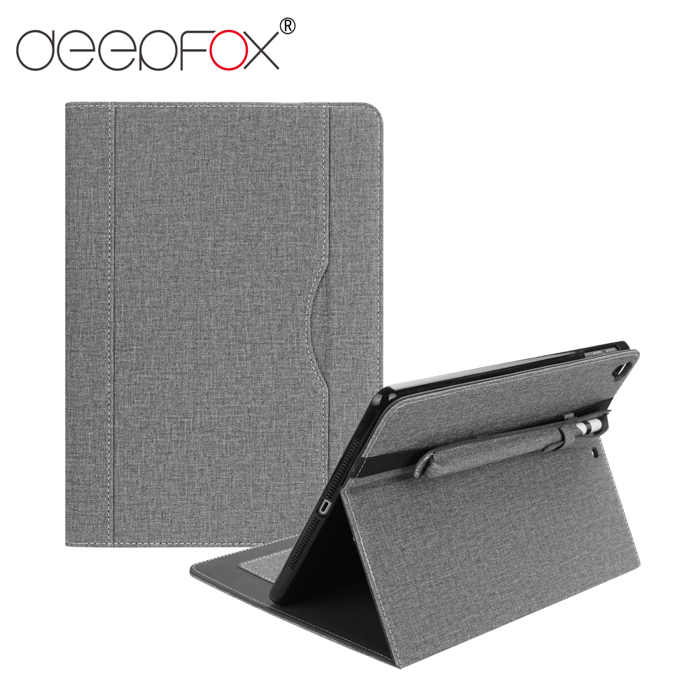 DeepFox Universal Fabric Smart Case For iPad 9.7 2017/2018 iPad 5/Air 6/Air 2 with Pencil Holder Cover Case for Apple iPad 9.7DeepFox Universal Fabric Smart Case For iPad 9.7 2017/2018 iPad 5/Air 6/Air 2 with Pencil Holder Cover Case for Apple iPad 9.7
