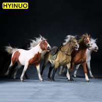 5 Models 1/6 Scale Simulated Animal Mongolian Horse of PVC Material Desktop Decoration Action Figure Dolls Toys Gifts Displays