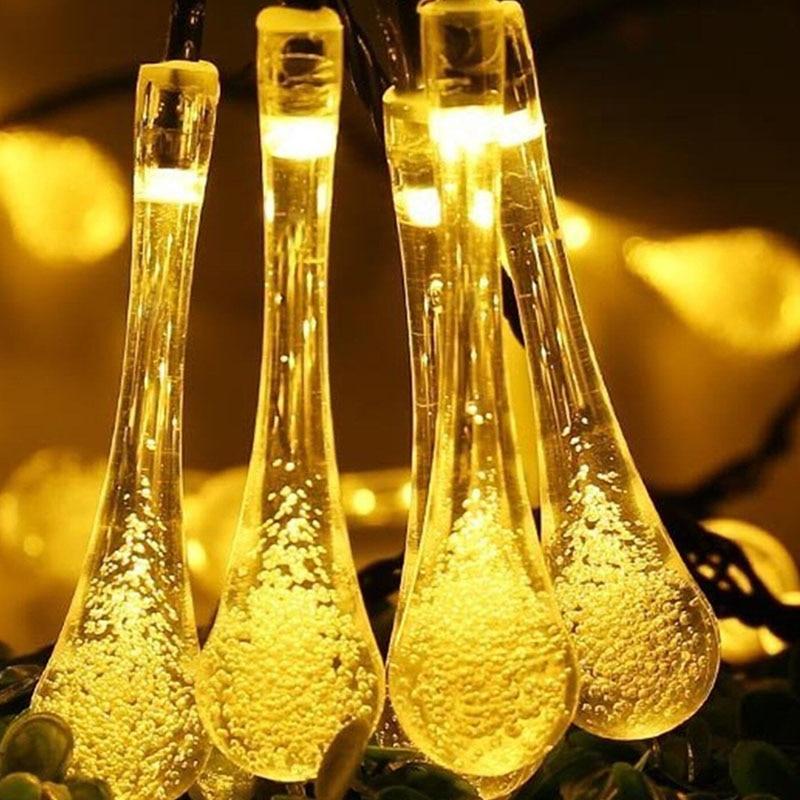 Led Solar Light Outdoor Garden Decoration 7M String Lights Raindrop Waterproof Christmas Holiday Lighting Fairy Lamps