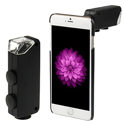 2017 60X-100X Digital Zoom Lens Mobile Phone Lenses Magnifier Microscope With Led Case For iPhone 6 6s 7 Plus 5 5s 4 4s Samsung