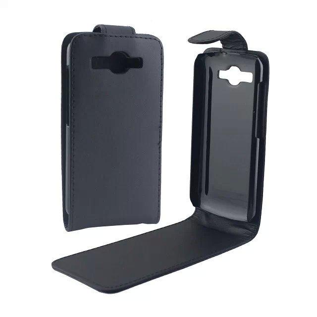 Шкіра Фліп Справа Обкладинка Чохол Для Huawei Ascend Y520-Чорний
