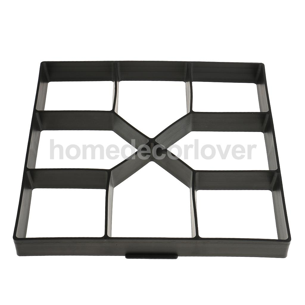 DIY Plastic Garden Path Maker Mold Manually Paving Cement Brick Mould Stepping  Stone Road Making Tool