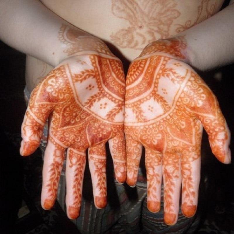 4pcs encre de tatouage au henné couleur brune + 15 pochoir modèle 6 - Tatouages et art corporel - Photo 3
