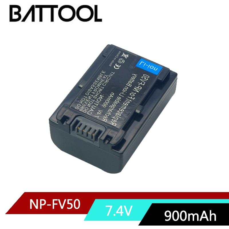 1X 7.4V 900mAh NP-FV50 NP FV50 NPFV50 Rechargeable Li-ion Battery For Sony NP-FV30 FV50 FV70 FV90 FV100 FV120 HDR-SR68 DCR-SX85 durapro 4pcs np f970 np f960 npf960 npf970 battery lcd fast dual charger for sony hvr hd1000 v1j ccd trv26e dcr tr8000 plm a55