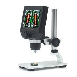 Elecrow цифровой портативный 1-600X 3.6MP 4,3 дюймов HD OLED дисплей цифровой микроскоп непрерывная Лупа с подставкой из алюминиевого сплава