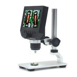 Elecrow Digitale Portatile 1-600X 3.6MP HD da 4.3 pollici OLED Display Digitale Microscopio Continuo Lente di Ingrandimento con Basamento In Lega di Alluminio