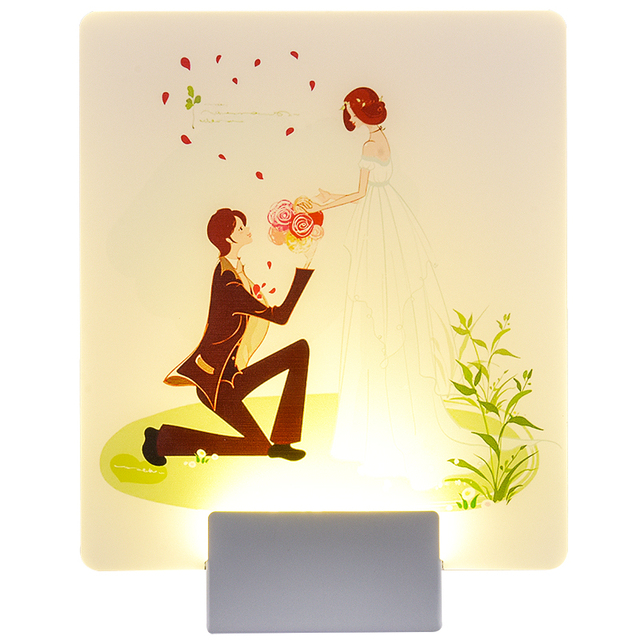 Us 32 67 9 Off Living Room Bedside Led Wall Lamp Landscape Painting Mural Galler Lantern Decorative Wall Lights For Home Luminarias De Interior In
