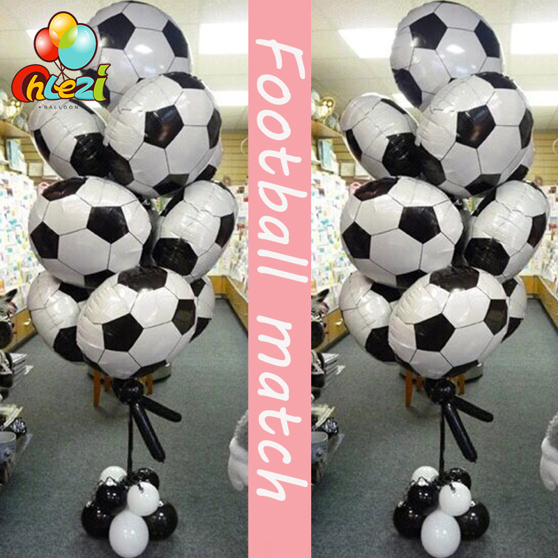 10 Pcs 18 Inch Football Balloons Adult Soccer Big Party Decoration Celebration  Kids Birthday Toys Party Supplies Football Match