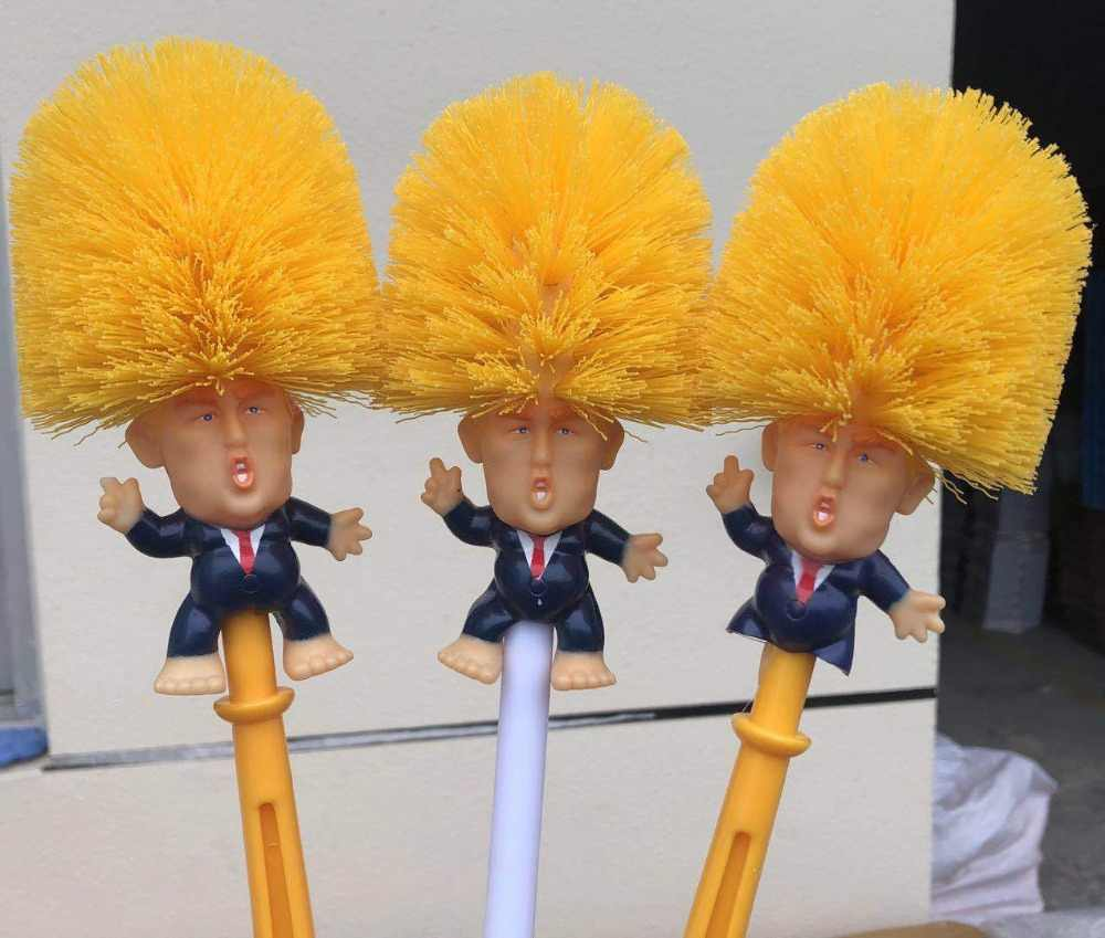 Donald Trump Toilet Pattern Toilet Brush Supplies Bathroom Cleaning Tools Toilet Brush For Home Hotel Bathroom WC Cleaning tools