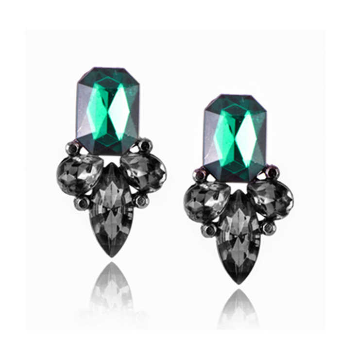 brand jewelry luxury austrian crystal earrings for women gold for women stud earrings for girls gift