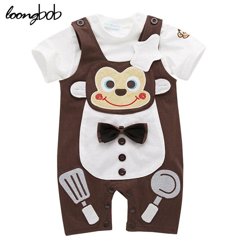 ᗕRopa de Los bebés Fijó 2 unids de Dibujos Animados Mono Cocinero ...