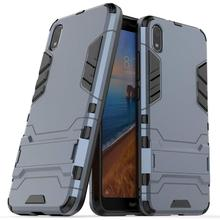 Xiaomi Redmi 7A case,[Anti-Fall] Double-Layer Shockproof and Sturdy Hybrid Protective Shell with Bracket Function