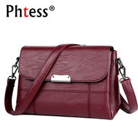 2018 Women Vintage Messenger Bags Flap Female Crossbody Leather Shoulder Bag Luxury Handbags Women Bags Designer