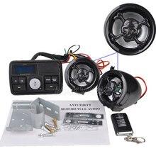 2016 Sistema de Audio de la Motocicleta MP3 Amplificador de Altavoz FM TF SD MMC MP3 Sistema de Sonido Estéreo Del Manillar Moto De Alarma Anti-robo