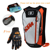 Motorbiker bag top case Touring motorcycle camelbak water bag DH MTB ATV MX with gloves motorcycle luggage bag