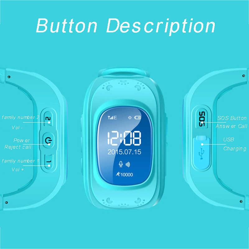 GPS Tracker Children Baby Q50 Smartwatch for Kids SIM OLED Screen SOS Emergency Passomete Smart Watch Anti-Lost Remote Monitor