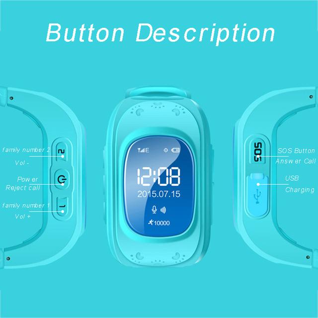 GPS rastreador niños bebé Q50 reloj inteligente para niños SIM pantalla OLED SOS emergencia Passomete Smart Watch Anti-Pérdida remoto monitor