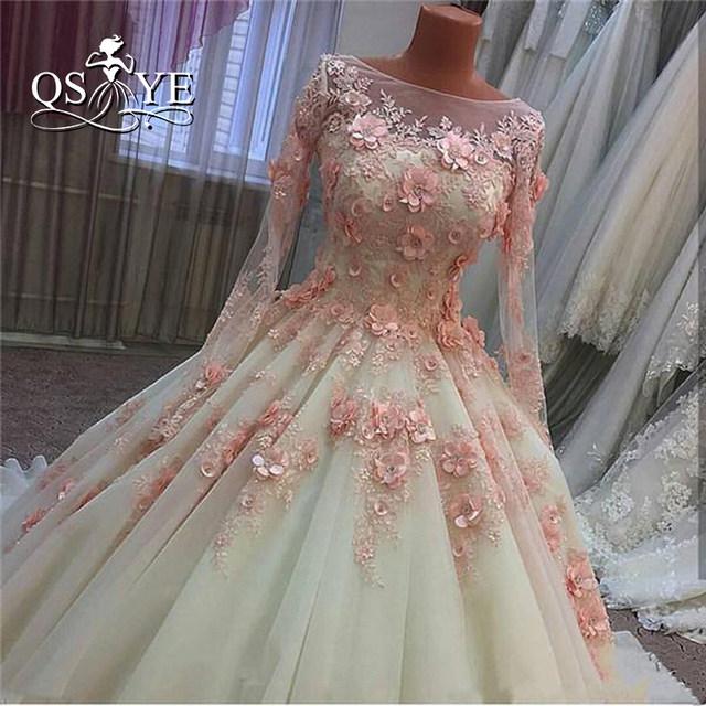 Online Shop Vintage Ball Gown Wedding Dresses 2017 Real Photo 3D ...