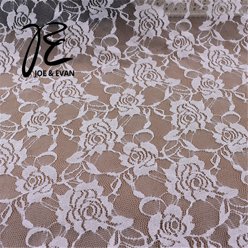 White Wedding Flower Lace Fabric French Embroidered Tulle Bridal DIY Stage Clothes Handmade Evening Dress Lacework Rose Fashion